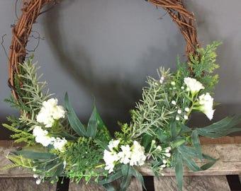 Bridesmaids hoop - flower girl hoop - child bridesmaid - woodland wedding - natural wedding - green wedding.