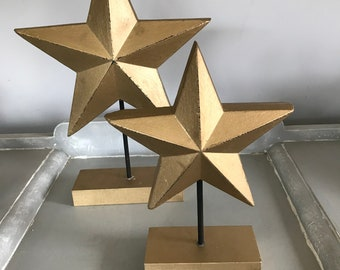 Christmas Standing Star in two sIzes. Christmas Decoration, Xmas Star, Side Board Decoration.