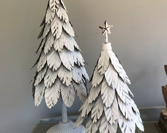 White metal Christmas trees, Alternative Christmas trees. Large christmas trees. 3 sizes.
