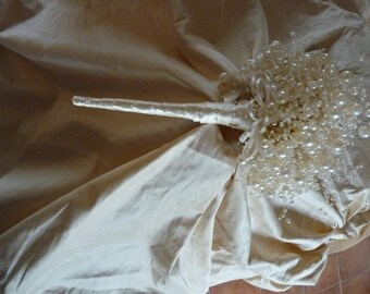 Bubble pearl wedding bouquet in ivory - ivory bouquet - pearl bouquet - brides bouquet - bridal bouquet - wedding flowers -