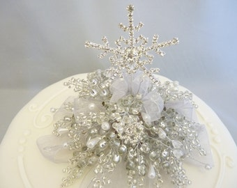 Snowflake cake decoration, Snowflake cake topper, Winter wedding cake topper, Christmas cake topper, Christmas cake decoration, Ice queen
