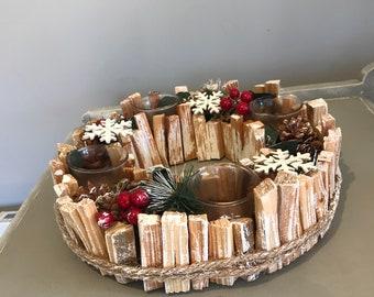 Advent Wreath, Candle Wreath, Christmas Decoration, Table Centrepiece