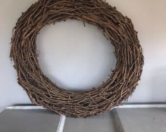 Extra large grape vine wreath, statement wreath, 100cm wreath, wall wreath.