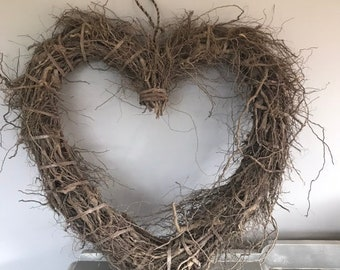Extra large heart wreath wall hanging. Rustic wreath. Luxury wreath. Valentines wreath.
