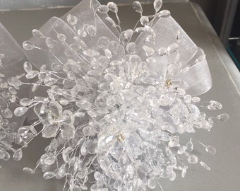 Bridesmaids bouquet - Beaded bouquet - Great brooch alternative - Silver bouquet - crystal bouquet -diamante bouquet