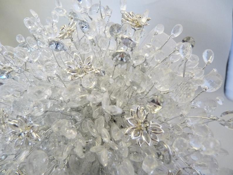 wedding Silver bouquet crystal bouquet -diamante bouquet Great brooch alternative Beaded bouquet Brides bouquet flower bouquet
