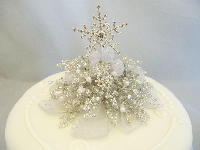 Christmas Wedding Cake Toppers.Snowflake Cake Decoration Snowflake Cake Topper Winter