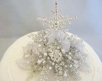 Snowflake cake decoration, Snowflake cake topper, Winter wedding cake topper, Christmas cake topper, Christmas cake decoration, Ice queen