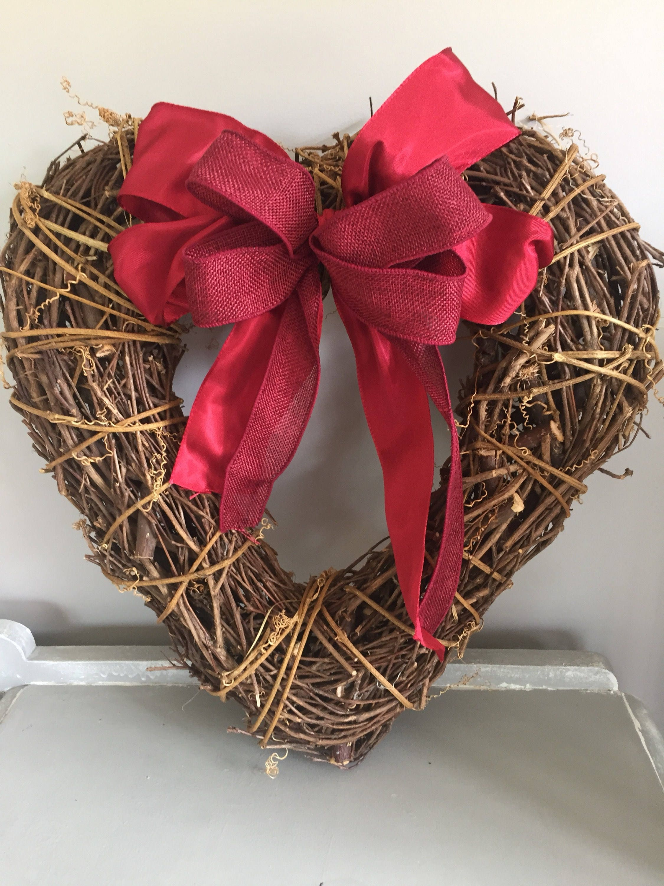 Large Winter Heart Large Heart Door Wreath Door Wreath Heart