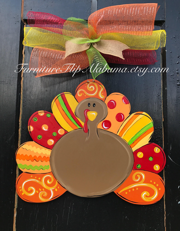 Turkey Door Hanger Thanksgiving Turkey Door Hanger Fall