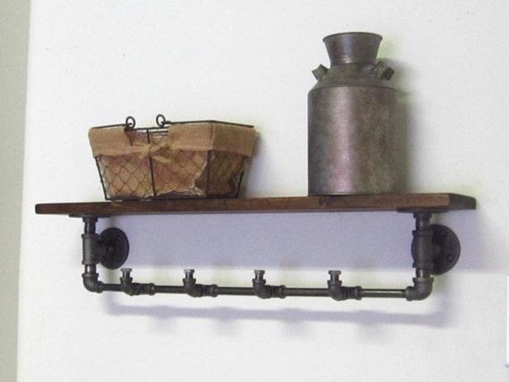 Industrial Pipe Coat Rack With Shelf Etsy Adorable Pipe Coat Rack