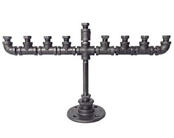 Industrial Pipe Menorah
