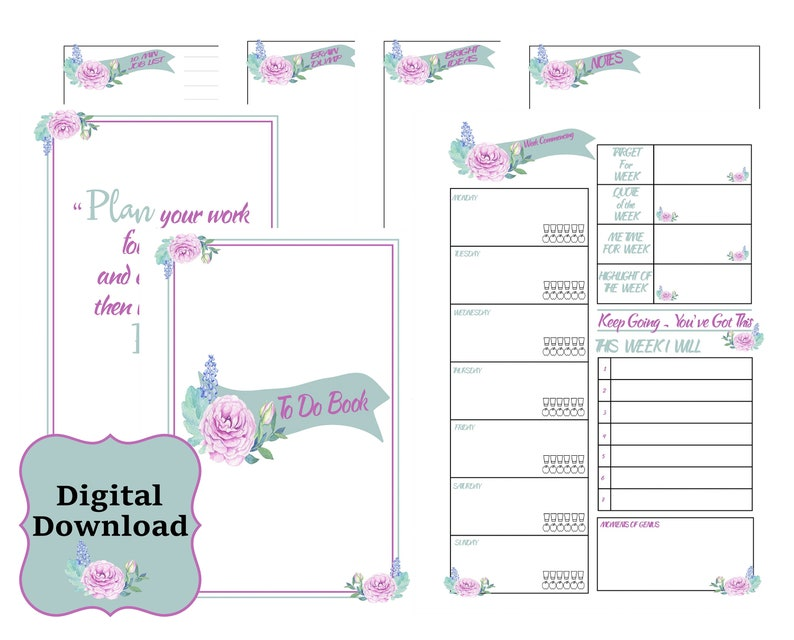Digital To Do List Printable - A5 Planner - A4 Planner - Organisational  Planner - To Do List - Downloadable Planner - Business Planner