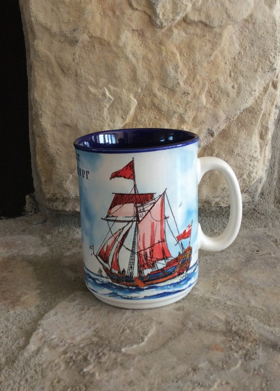 Hawaii Souvenir Sail Boat Dashboard Coffee Mug Tea Cup
