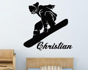 snowboarder Wall Decals snowboard Wall Decals Sports Wall Decals kcik115