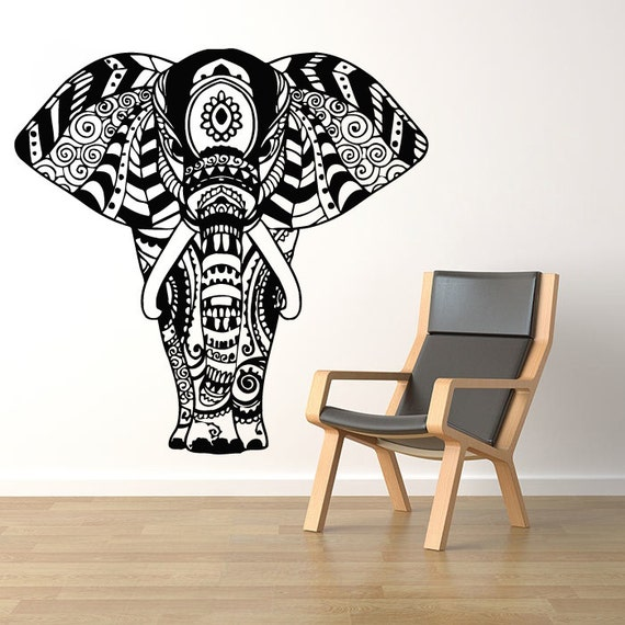 Wall Decals Elephant Namaste Yoga India Patterns Tribal Buddha | Etsy