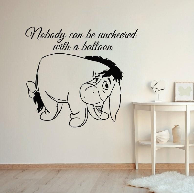 Winnie The Pooh Wall Nursery Decor Art Quote Baby Room Vinyl Sticker Home Decor Mural Eeyore Murals Ms323
