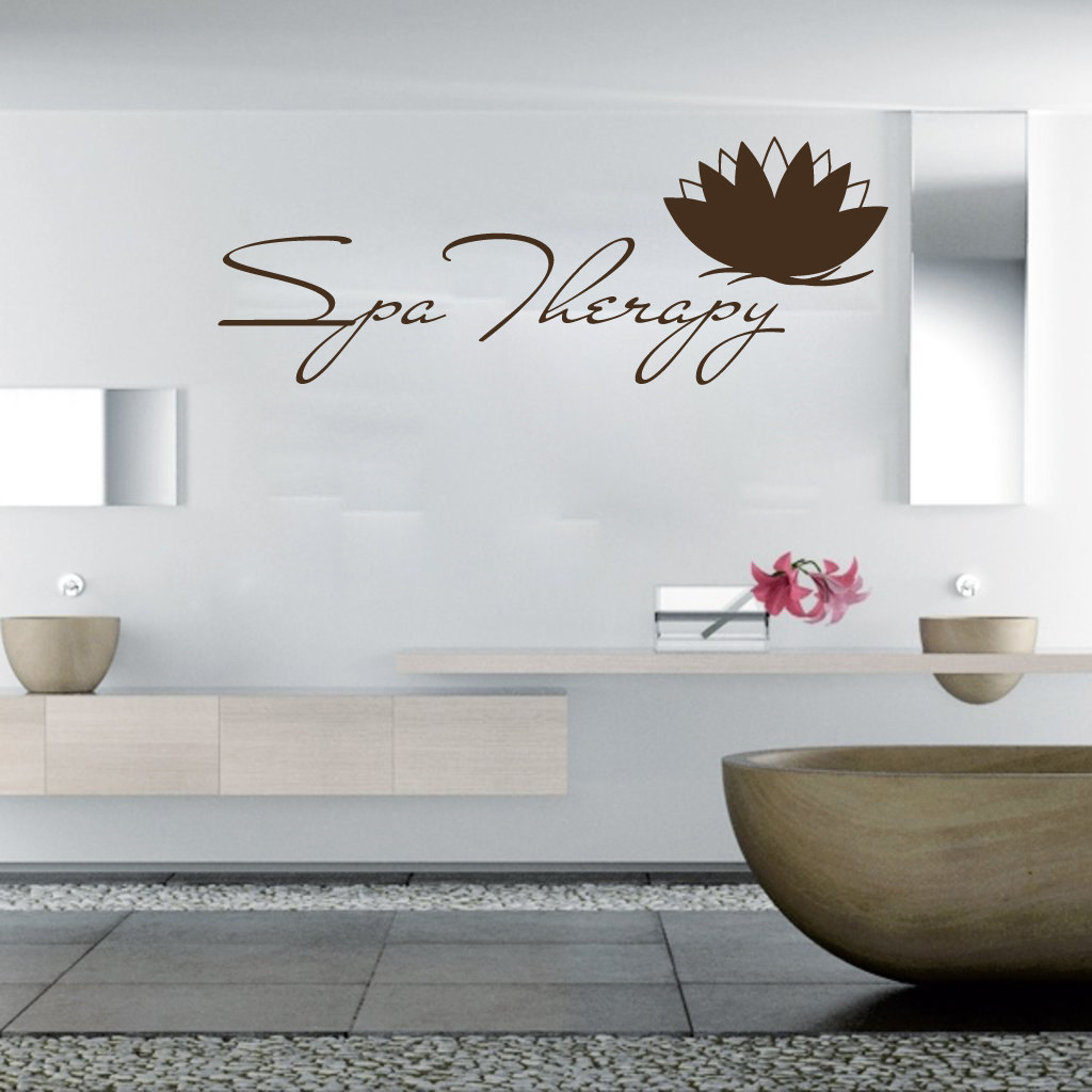 Wall Decals Spa Therapy Lotus Flowers Decal Vinyl Sticker SPA | Etsy
