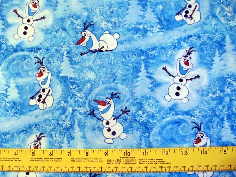 30 inches VHTF RARE Disney Frozen Olaf Cotton Fabric 1 yard