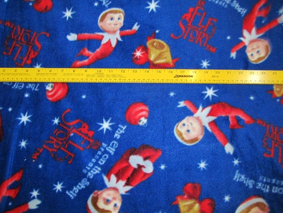 Peanuts Christmas Fleece Fabric BTY RARE VHTF