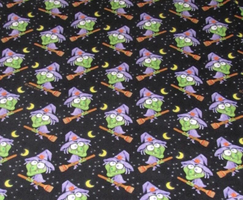 Halloween Witch Fleece Fabric 2 yards RARE VHTF