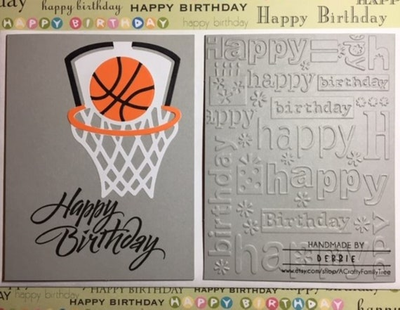 Basketball Lover Birthday Card Free Shipping Etsy