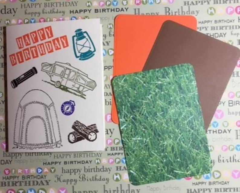 Camping Lover Birthday Card Free Shipping Etsy