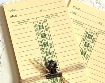 Vintage Inspired Time Cards. Junk Journal Paper. Vintage Ephemera. Journal Cards. Junk Journal Supply. Vintage Paper. Vintage Journal.