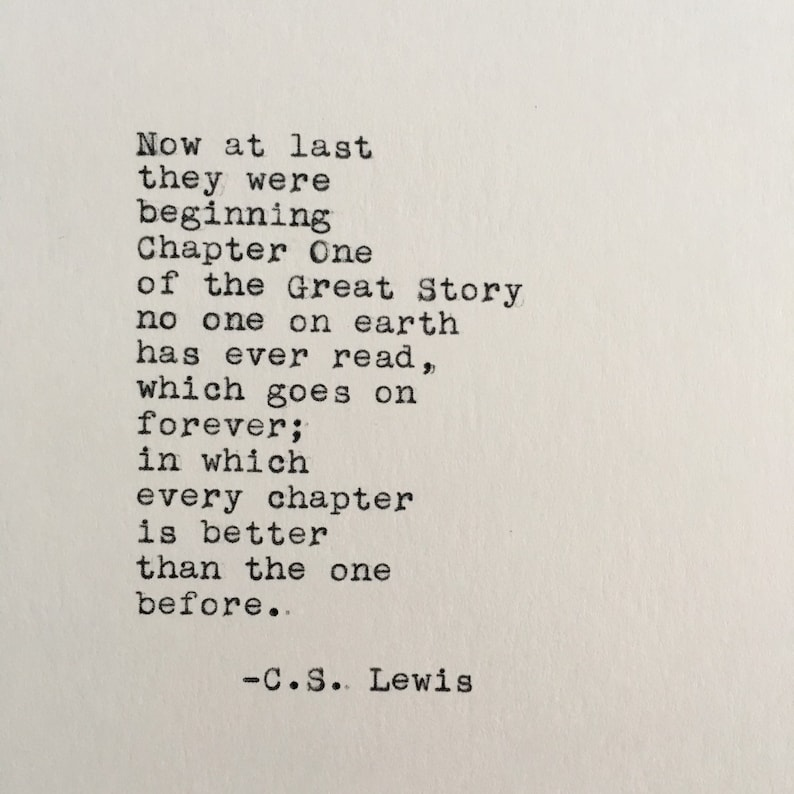 Cs Lewis Quotes On Love | C S Lewis Love Quote Chronicles Of Narnia Typed On Etsy
