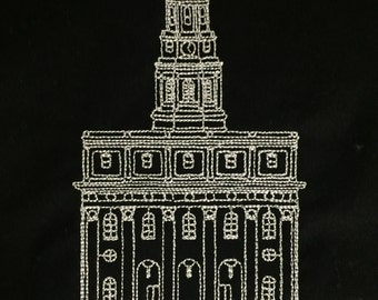 Embroidered Nauvoo Illinois Temple