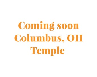 Embroidered Columbus, Ohio Temple