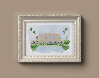 Mesa Arizona LDS Temple Watercolor Print