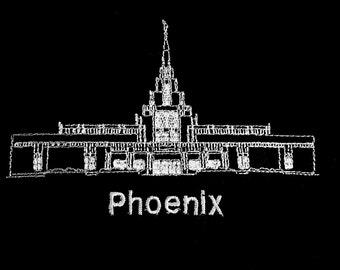 Embroidered Phoenix Arizona Temple
