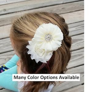 Yellow Bridal Clips Confirmation Bows Yellow Hair Clip Hair Accessories First Communion Bow Flower Girl Clip Bridal Hair Clip