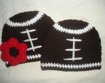 Crochet Football Hat Etsy