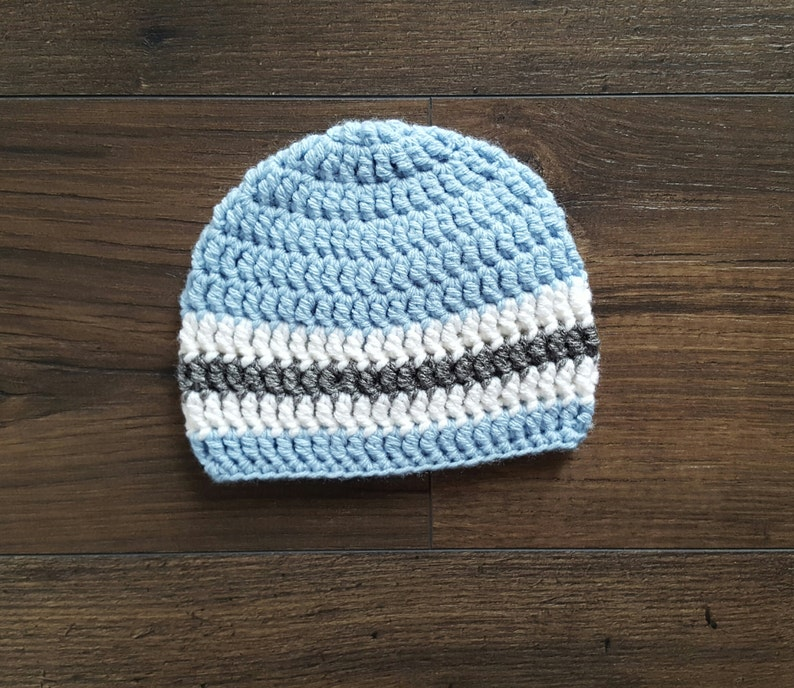676c69a7abbba Baby boy gift crochet baby hat striped baby hat white
