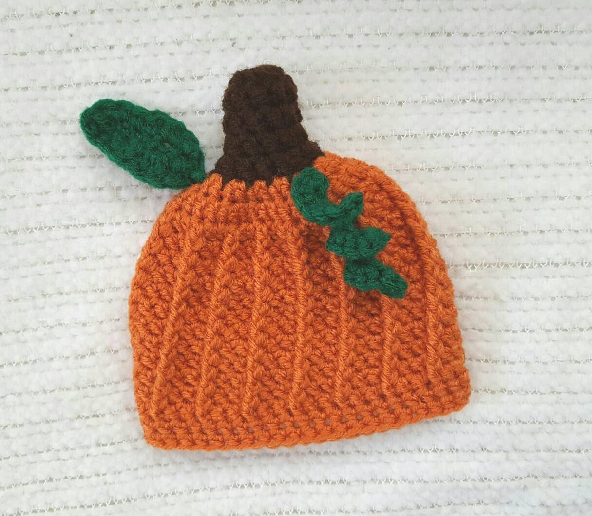 pumpkin baby hat halloween hat newborn photo prop 0-3 month | etsy