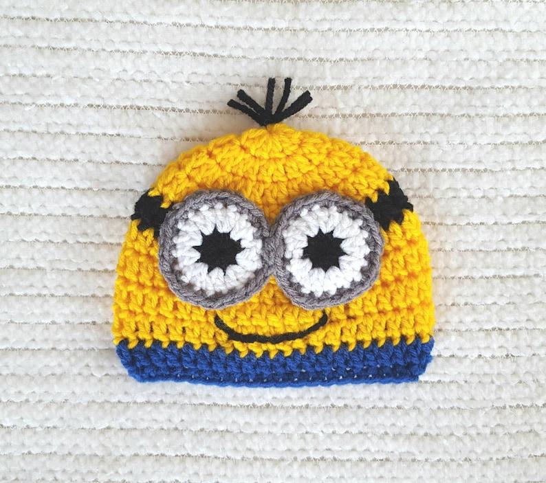 8af58c38953da Minion baby hat minion hat baby boy gift minion newborn