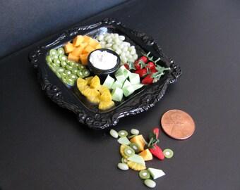 1:6 scale Fruit tray set  for Barbie, Ginny, Fashion Royalty, Blythe, or Momoko, Tyler, Poppy Parker