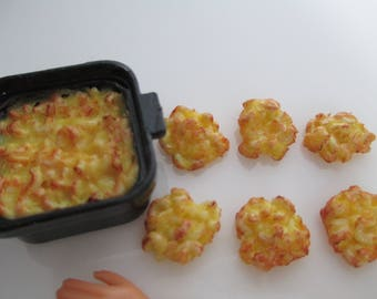 1:6 scale Mac & cheese set for Barbie, Ginny, Fashion Royalty, Blythe, or Momoko, Tyler, Poppy Parker