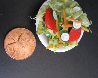 1:6 scale Bowl of salad for Barbie, Ginny, Fashion Royalty, Blythe, or Momoko, Tyler, Poppy Parker