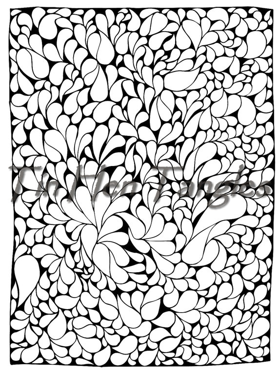 - Teardrop Tangle Coloring Page Art Therapy Color Therapy Etsy