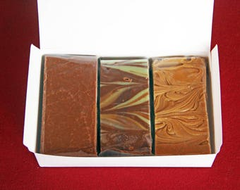 Homemade Fudge Buy 1 lb Get 1/2 lb FREE  Over 40 flavors to choose from! Fudge Sampler Fudge Assortment
