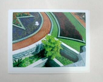 Bahai Card -- Star Garden close-up 008