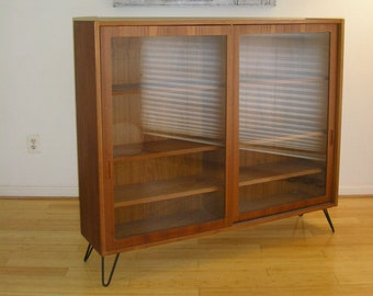 Danish Modern Teak Bookcase Or Display Case Credenza From Hundevad Of Denmark Eames Mid Century MCM Scandinavia