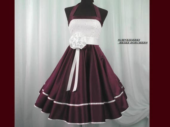 Rockabilly 50er Neckholder Kleid Petticoat Pin Up Party