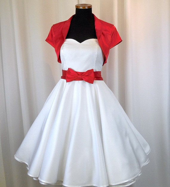 Brautkleid Rot Weisses Brautkleid Rockabilly Hochzeitskleid Etsy