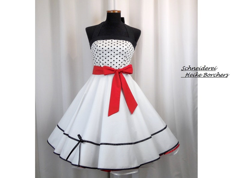 Rockabilly Wedding Dress.Rockabilly Wedding Dress Wedding Dress Petticoat Wedding Dress Short Wedding Dress Circle Skirt Red Wedding Dress White