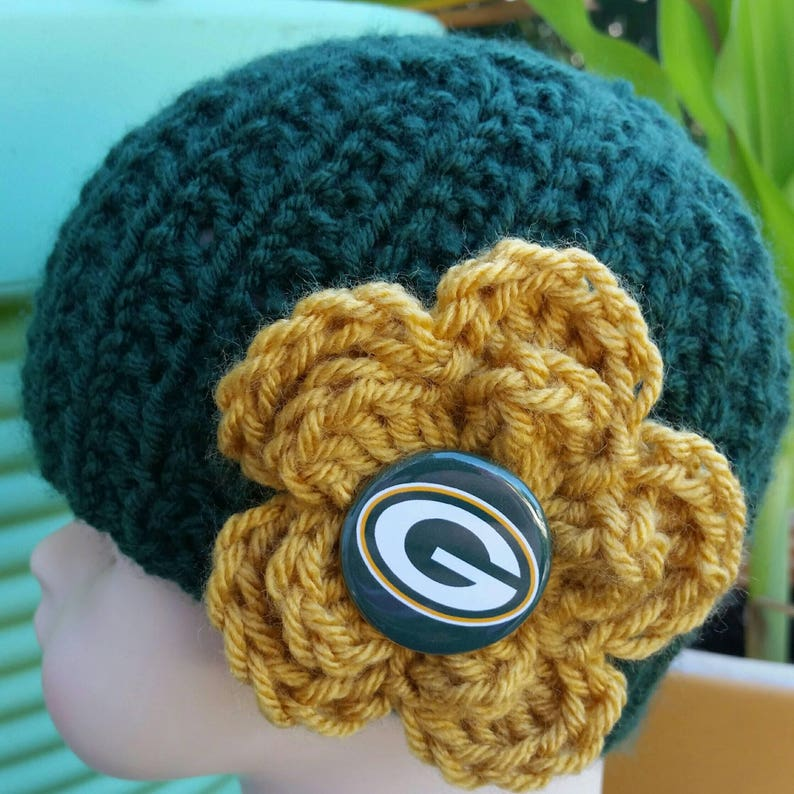 62a717763d0 Green Bay Football Inspired Infant Hat Knit Baby Beanie