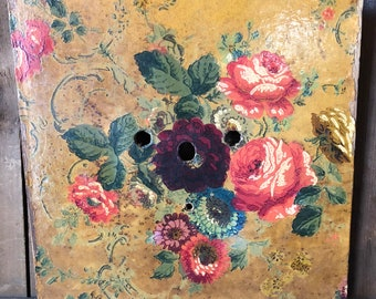 Stunning Antique Painted Clock Face-Brocante